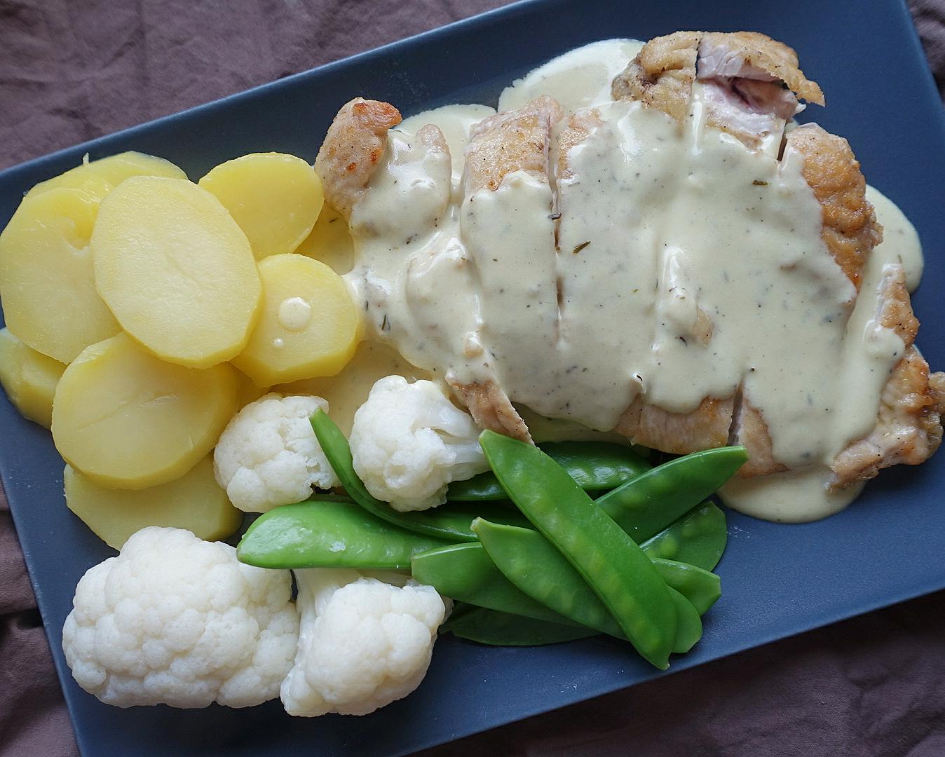 Blitzschnell gesünder essen: Hähnchenfilet mit Zitronensauce und Gemüse