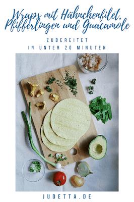 Saftig gebratenes Hähnchenfilet mit frischen Pfifferlingen und Avocadocreme | #inunter20 | judetta.de