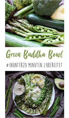 Green Buddha Bowl   zubereitet #inunter20minuten   vegan, vegetarisch, schnell, lecker   judetta.de