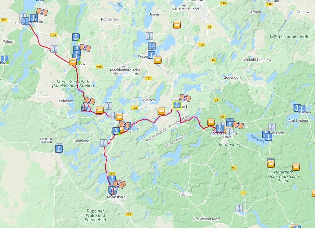 Planung unserer Hausboot Route