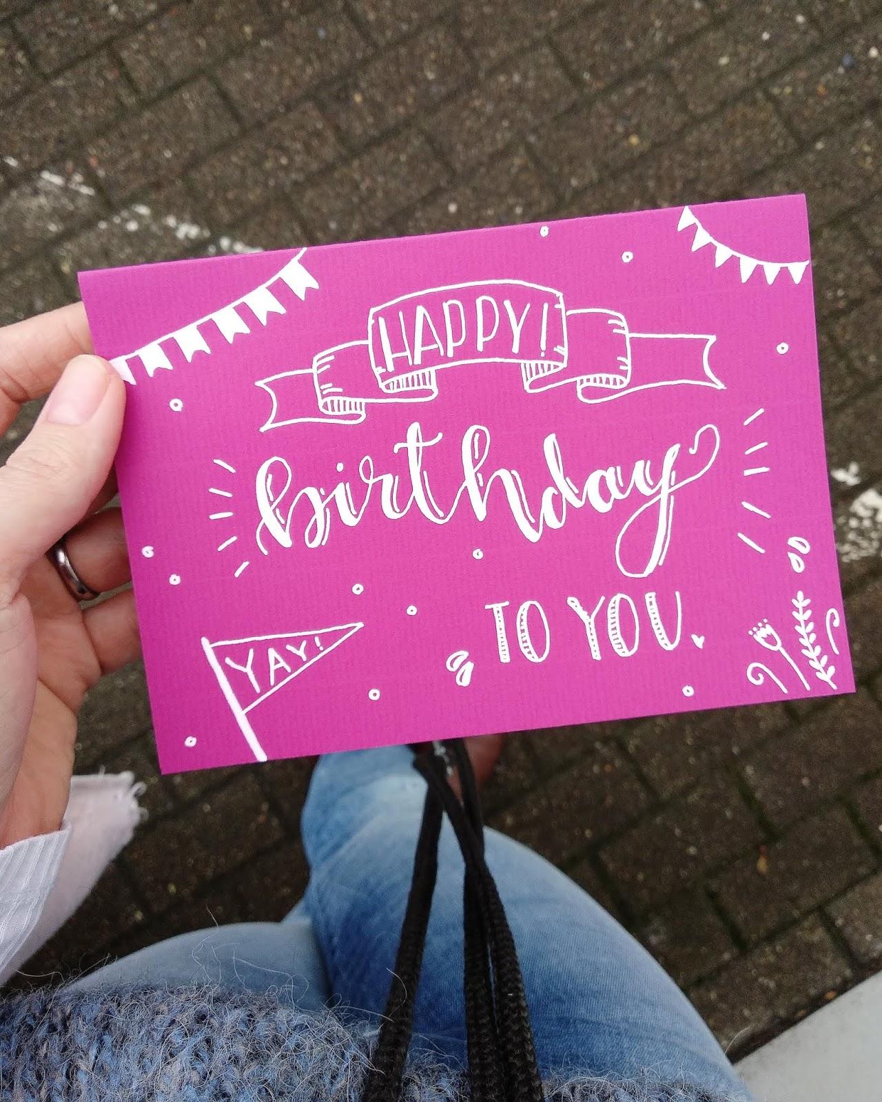 Mit viel Liebe selbst gestaltete Geburtstagskarte