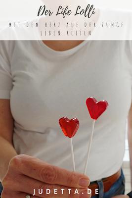 Lolli lecken, leben retten   Mit Herz zur DNA Typisierung