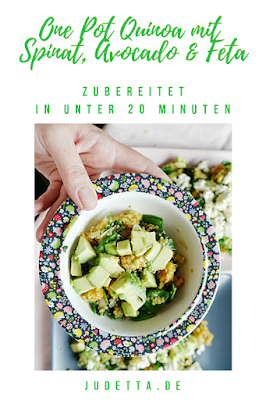 Quinoa als One Pot Gericht auch als Essen für Kinder, einfach und lecker   #inunter20   judetta.de