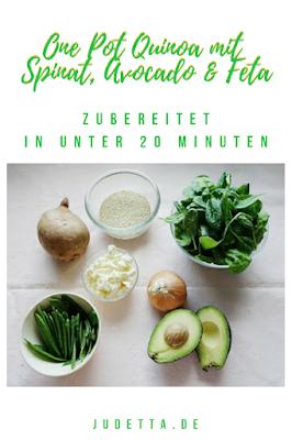 Quinoa als sommerliches One Pot Gericht, einfach und lecker   #inunter20   judetta.de