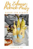 Essen für Kindergeburtstag oder Brotbox Bento: Bananen Bande